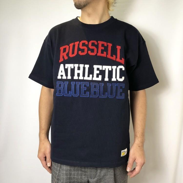 画像2: 【メンズ】ラッセル・ブルーブルー(RUSSELL・BLUEBLUE)RUSSELL・BLUE BLUE ATHLETIC TACKLE Tシャツ (2)
