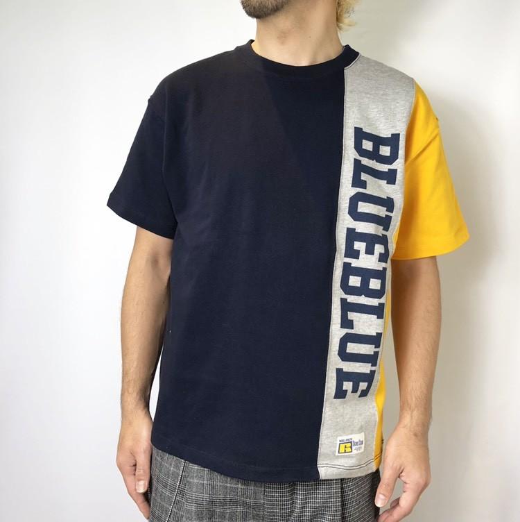 画像2: 【メンズ】ラッセル・ブルーブルー(RUSSELL・BLUEBLUE)RUSSELL・BLUE BLUE 3トーン Tシャツ (2)