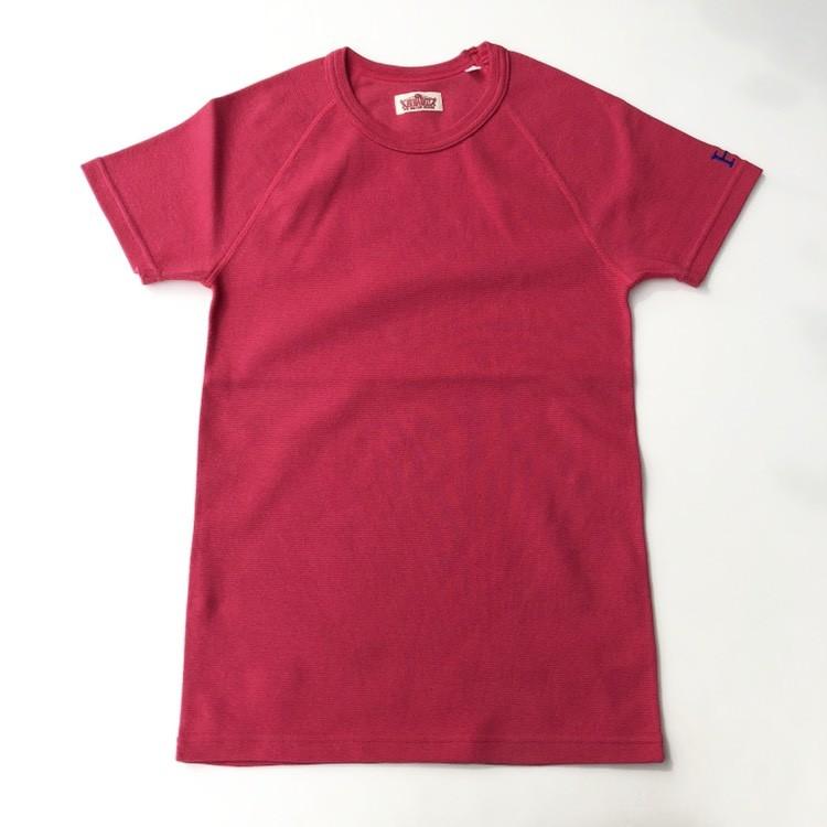 画像1: HOLLYWOOD RANCH MARKET 『ストレッチフライス ショートスリーヴTシャツ カラー:SCARLET』 (1)