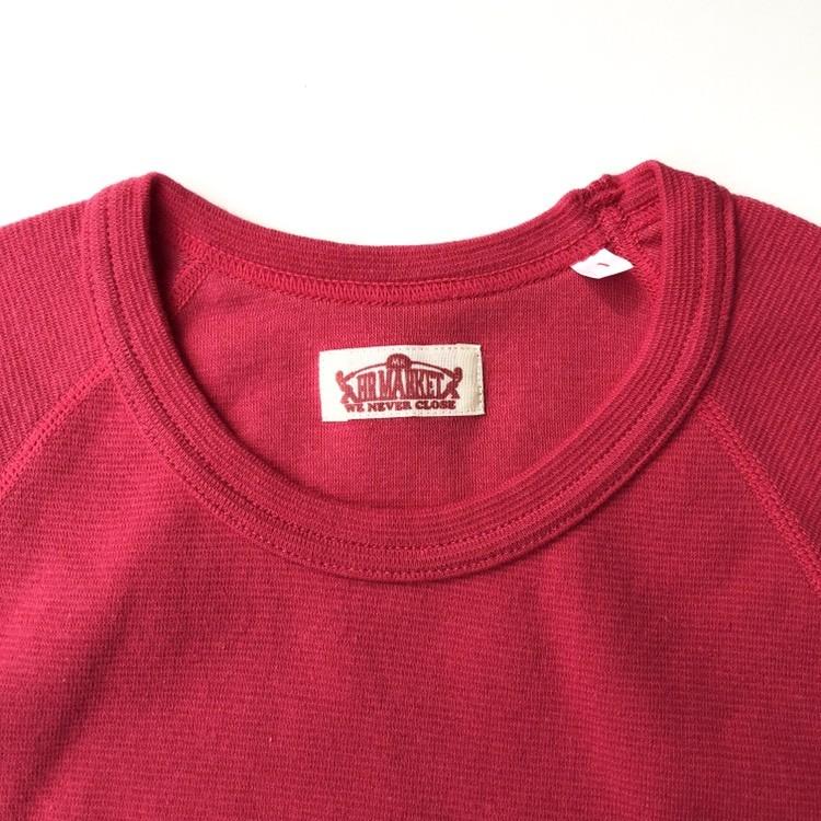 画像2: HOLLYWOOD RANCH MARKET 『ストレッチフライス ショートスリーヴTシャツ カラー:SCARLET』 (2)