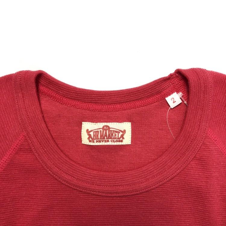 画像3: 【全カラー・全サイズ展開】ハリウッドランチマーケット 『ストレッチフライス ハーフスリーヴTシャツ カラー:SCARLET』 (3)