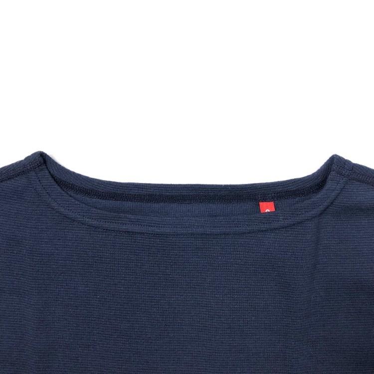 画像3: ハリウッドランチマーケット 『ストレッチフライス レディース ボートネック ハーフスリーブTシャツ カラー:NAVY』 (3)
