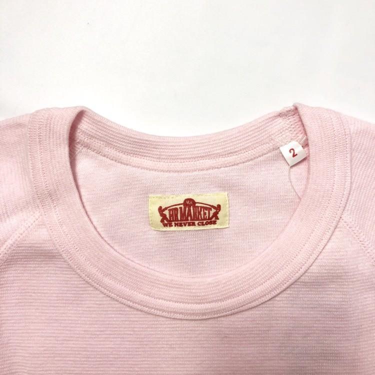 画像3: 【全カラー・全サイズ展開】ハリウッドランチマーケット 『ストレッチフライス ハーフスリーヴTシャツ カラー:S PINK』 (3)