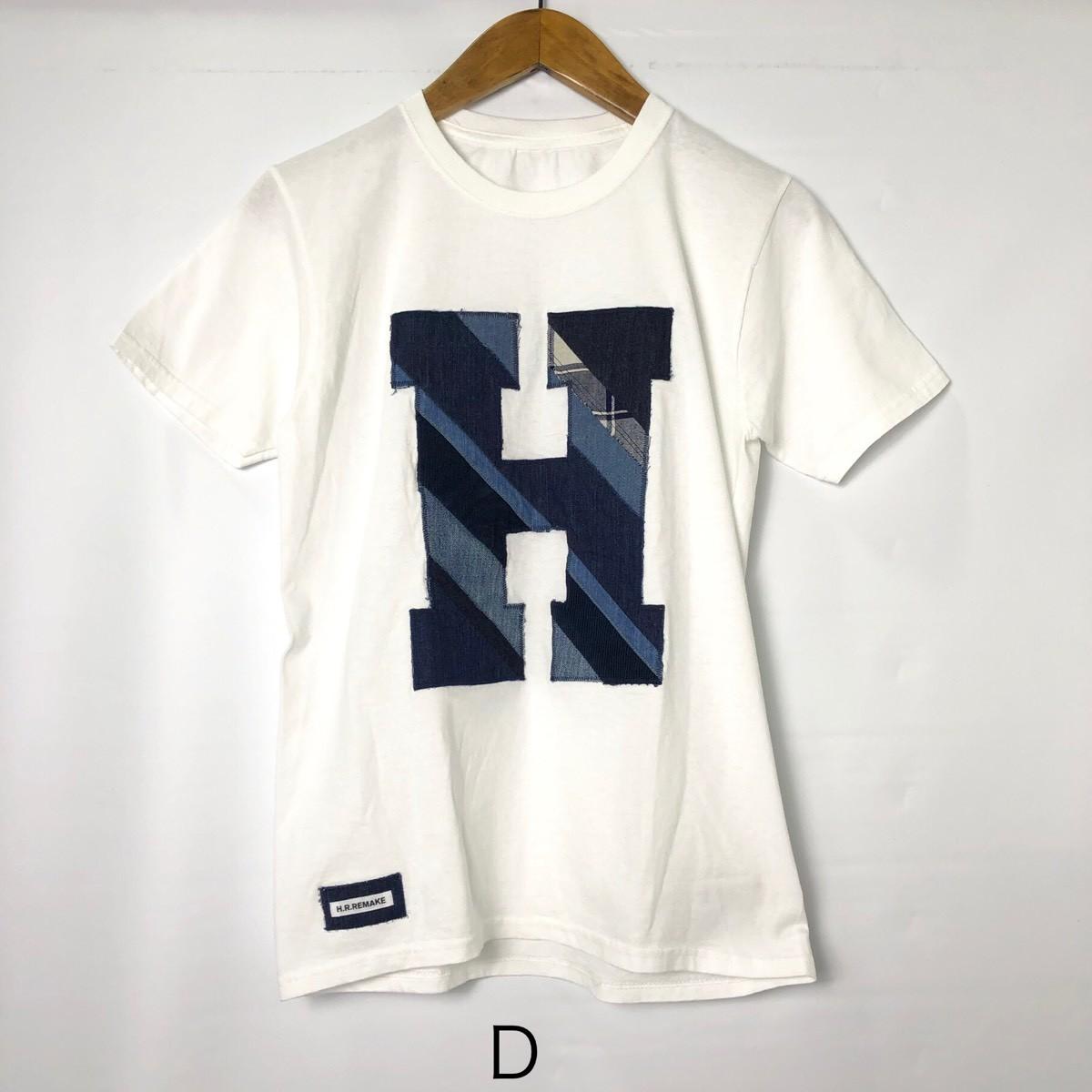 画像2: 【メンズ】エイチアールリメイク(H.R.REMAKE)HRR ミックスパッチワーク HパッチTシャツ (2)