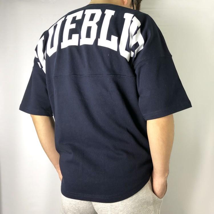 画像2: 【メンズ】ラッセル・ブルーブルー(RUSSELL・BLUEBLUE)RUSSELL・BLUE BLUE ビッグロゴ フットボールTシャツ (2)