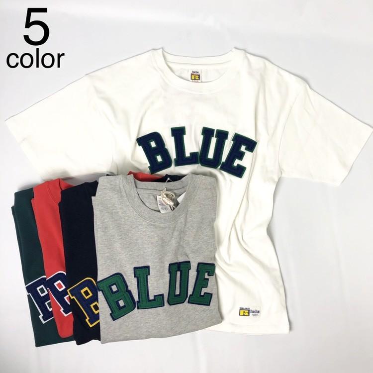 画像1: 【メンズ】ラッセル・ブルーブルー(RUSSELL・BLUEBLUE)RUSSELL・BLUE BLUE BLUEパッチTシャツ 2 (1)
