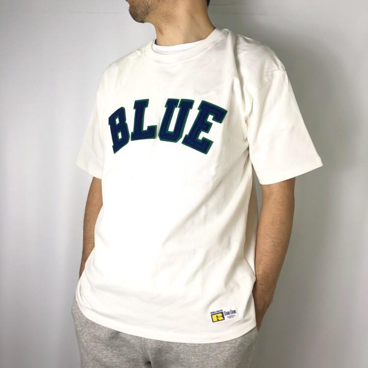 画像2: 【メンズ】ラッセル・ブルーブルー(RUSSELL・BLUEBLUE)RUSSELL・BLUE BLUE BLUEパッチTシャツ 2 (2)