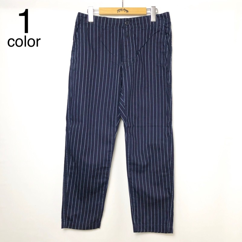 画像1: 【メンズ】ブルーブルー(BLUE BLUE)ブルーリッジストライプデニム リラックスパンツ (1)