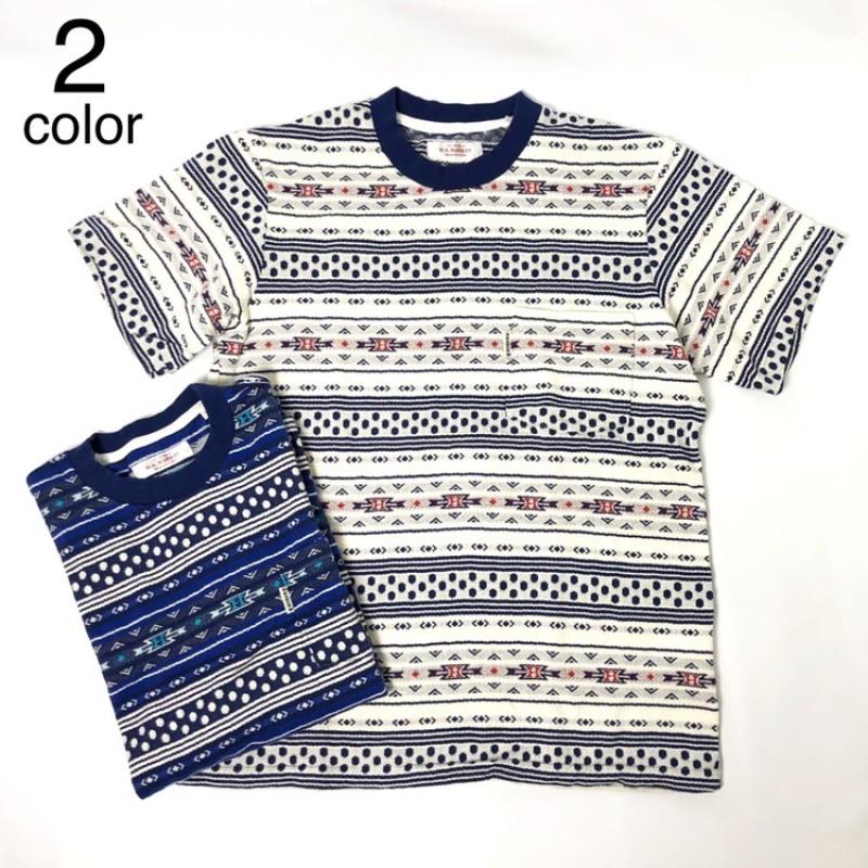 画像1: 【メンズ】ハリウッドランチマーケット(HOLLYWOOD RANCH MARKET)ネイティブドット ジャカードTシャツ (1)
