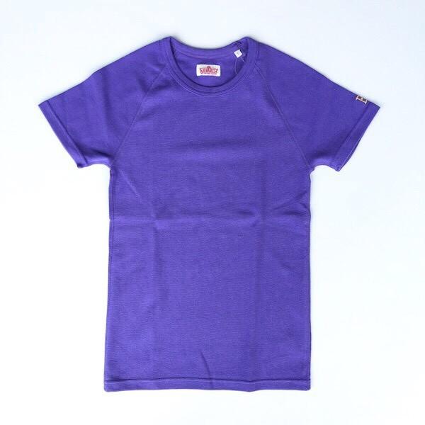 画像2: HOLLYWOOD RANCH MARKET 『ストレッチフライス ショートスリーヴTシャツ カラー:PURPLE』 (2)