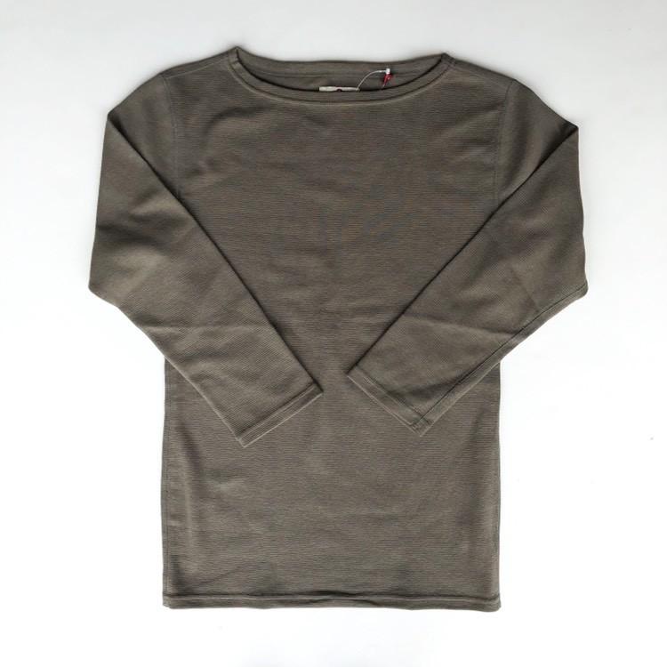 画像1: ハリウッドランチマーケット 『ストレッチフライス レディース ボートネック ハーフスリーブTシャツ カラー:OLIVE』 (1)