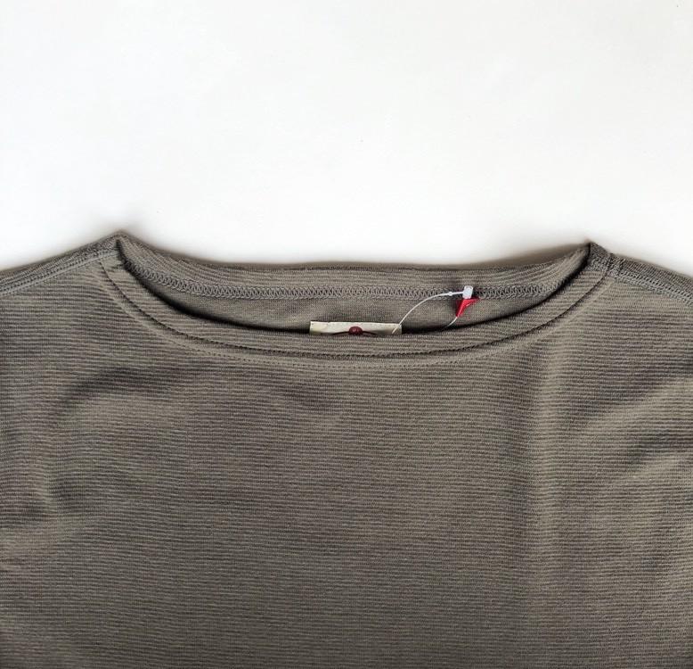 画像2: ハリウッドランチマーケット 『ストレッチフライス レディース ボートネック ハーフスリーブTシャツ カラー:OLIVE』 (2)