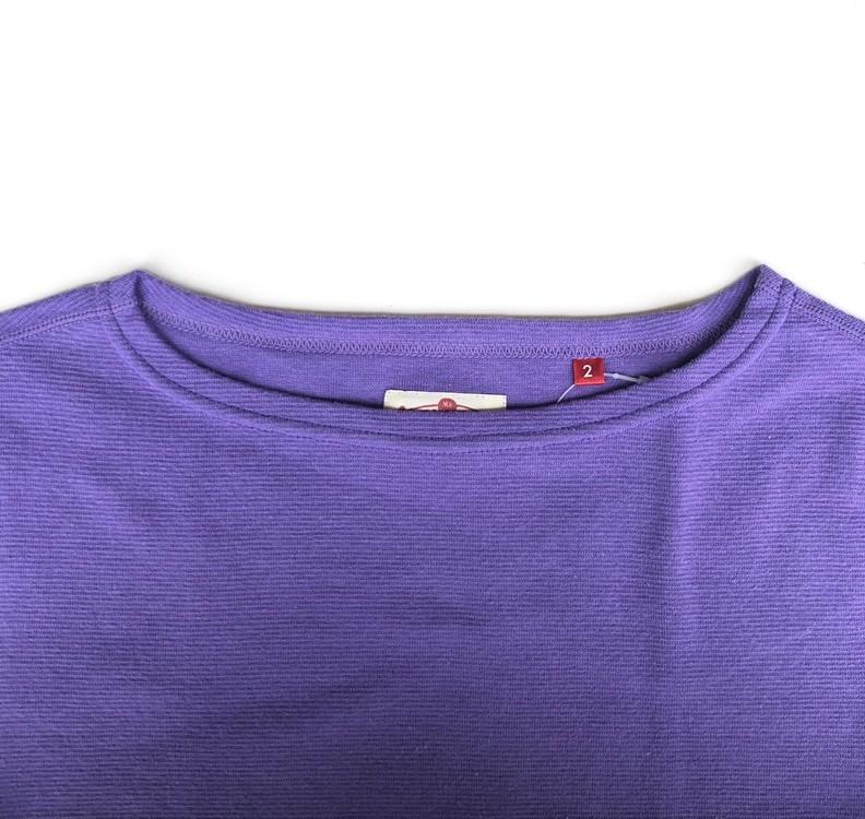 画像2: ハリウッドランチマーケット 『ストレッチフライス レディース ボートネック ハーフスリーブTシャツ カラー:PURPLE』 (2)
