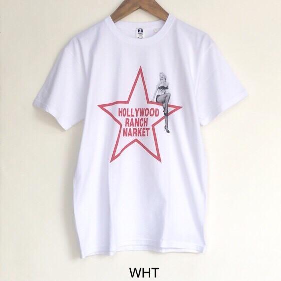 画像2: 【メンズ】ハリウッドランチマーケット(HOLLYWOOD RANCH MARKET)MARILYN MONROE・HRM スターTシャツ (2)