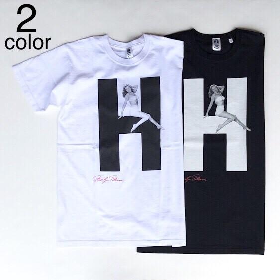 画像1: 【メンズ】ハリウッドランチマーケット(HOLLYWOOD RANCH MARKET)MARILYN MONROE・ HRM ビッグH Tシャツ (1)