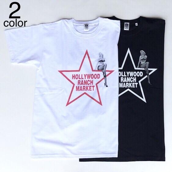 画像1: 【メンズ】ハリウッドランチマーケット(HOLLYWOOD RANCH MARKET)MARILYN MONROE・HRM スターTシャツ (1)
