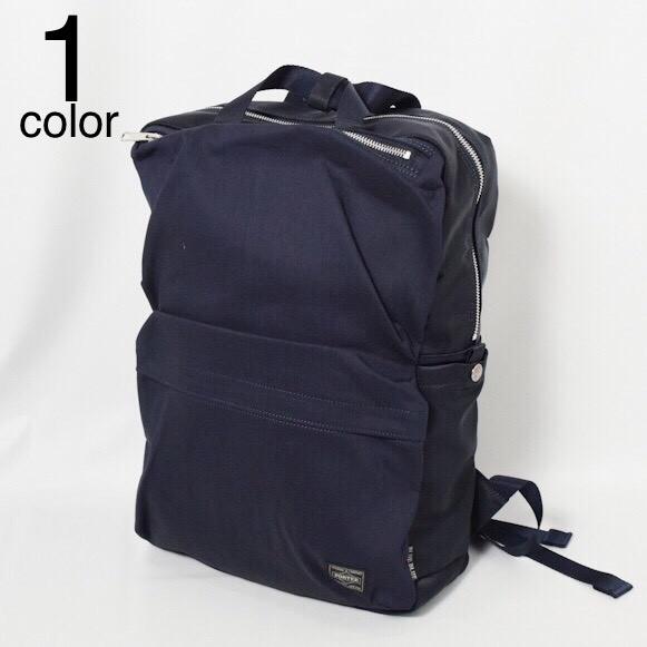 画像1: 【小物・雑貨】ブルーブルー・ポーター(BLUE BLUE ・PORTER)PORTER・BLUE BLUEインディゴナイロンコンビ ボックスパック (1)