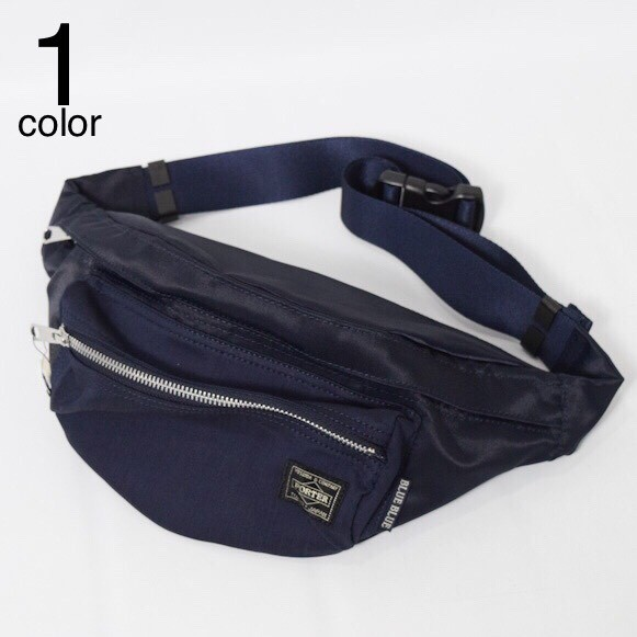 画像1: 【小物・雑貨】ブルーブルー・ポーター(BLUE BLUE ・PORTER)PORTER・BLUE BLUEインディゴナイロンコンビ ウエストバッグ (1)