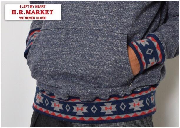 画像2: 【メンズ】ハリウッドランチマーケット(HOLLYWOOD RANCH MARKET)ジャズネップスウェット ジャガードリブパーカ (2)