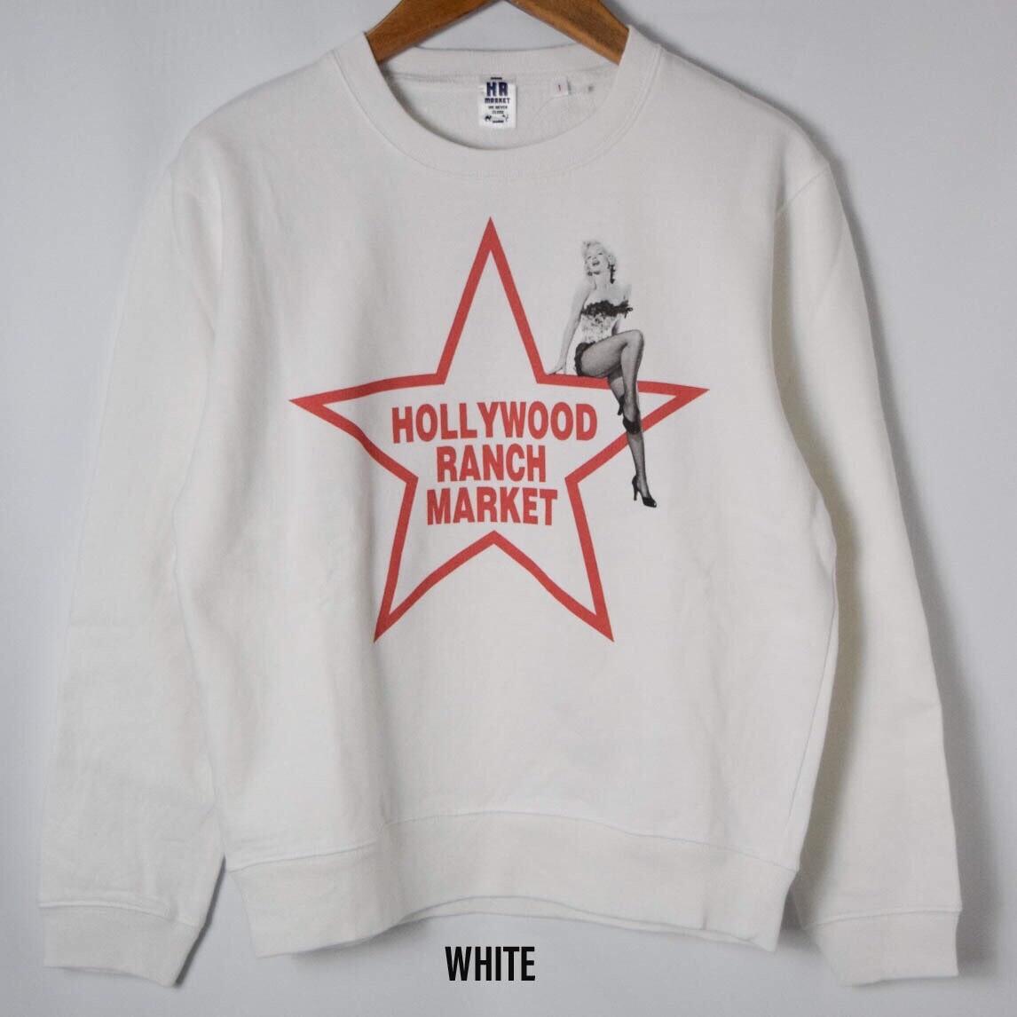 画像2: 【メンズ】ハリウッドランチマーケット(HOLLYWOOD RANCH MARKET)MARILYN MONROE・ HRM スター クルーネックスウエット (2)