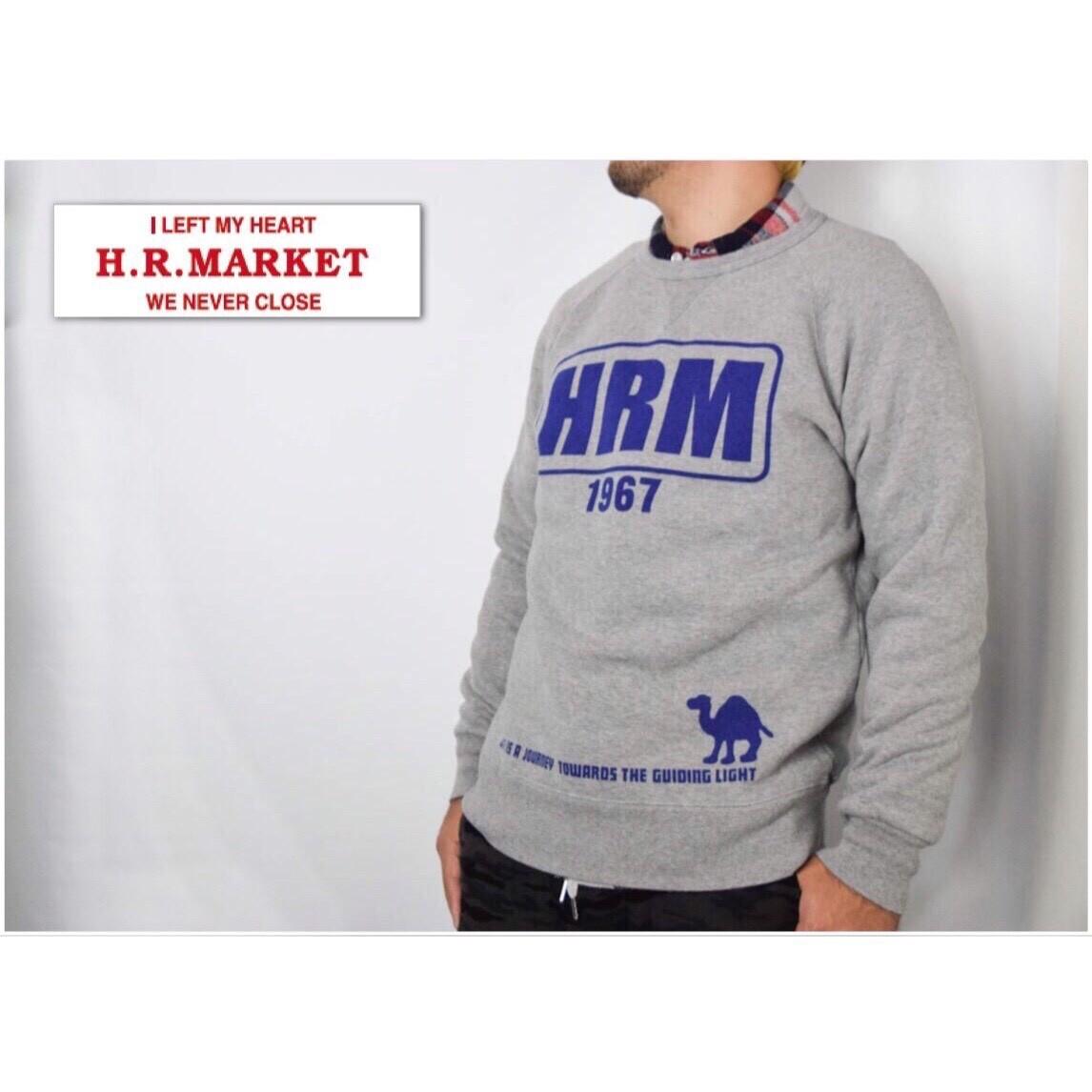 画像2: 【メンズ】ハリウッドランチマーケット(HOLLYWOOD RANCH MARKET)HRM FRAME クルーネックスウェット (2)