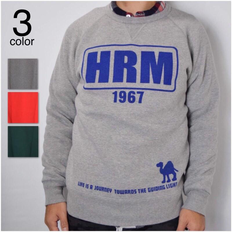 画像1: 【メンズ】ハリウッドランチマーケット(HOLLYWOOD RANCH MARKET)HRM FRAME クルーネックスウェット (1)
