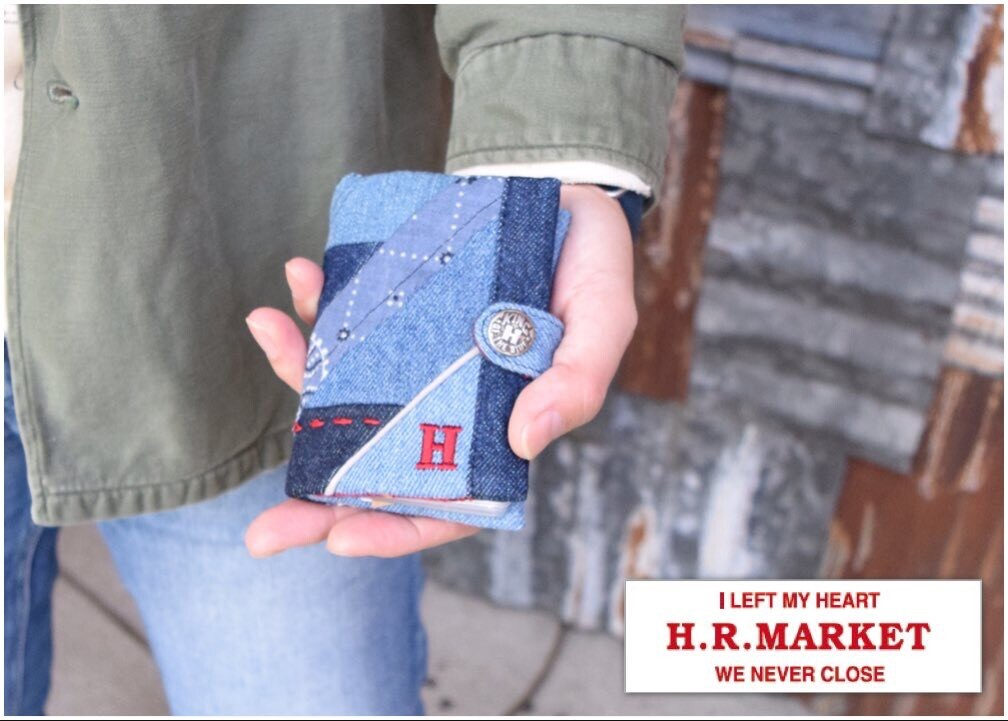 画像2: 【雑貨・小物】エイチアールリメイク(H.R.REMAKE)HRR レジメンタルパッチワーク カードケース (2)
