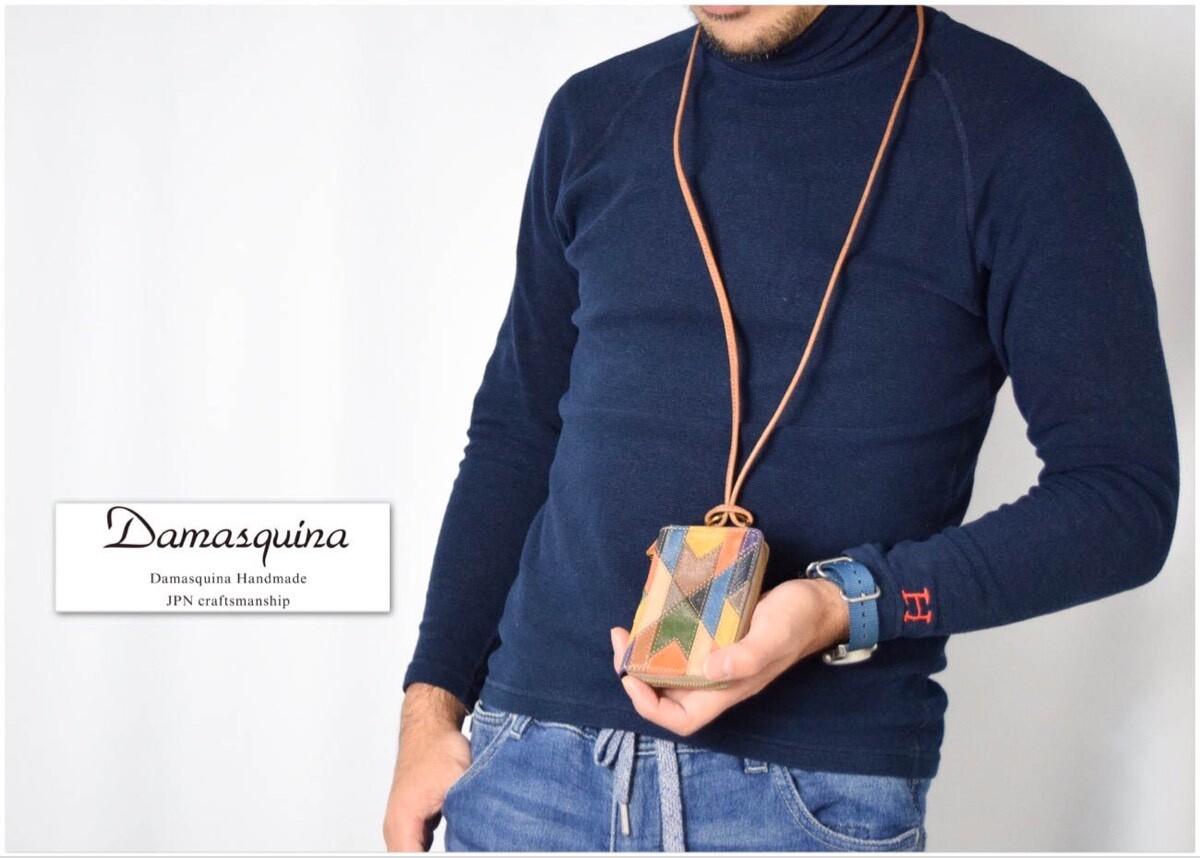 画像2: 【小物】Damasquina(ダマスキーナ)オルテガパッチワーク ネックウォレット (2)