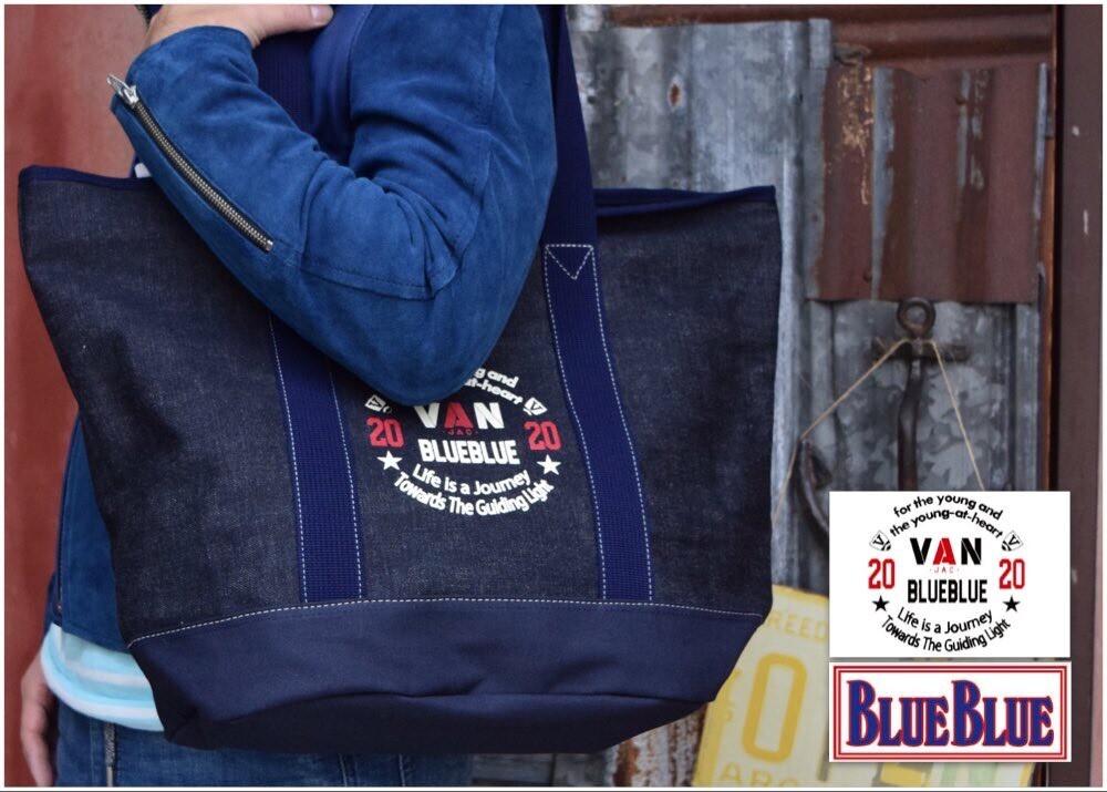 画像2: 【小物・雑貨】ヴァンジャケット・ブルーブルー(VAN JACKET・BLUE BLUE)VAN JACKET・BLUE BLUE インディゴキャンバス トートバッグ (2)