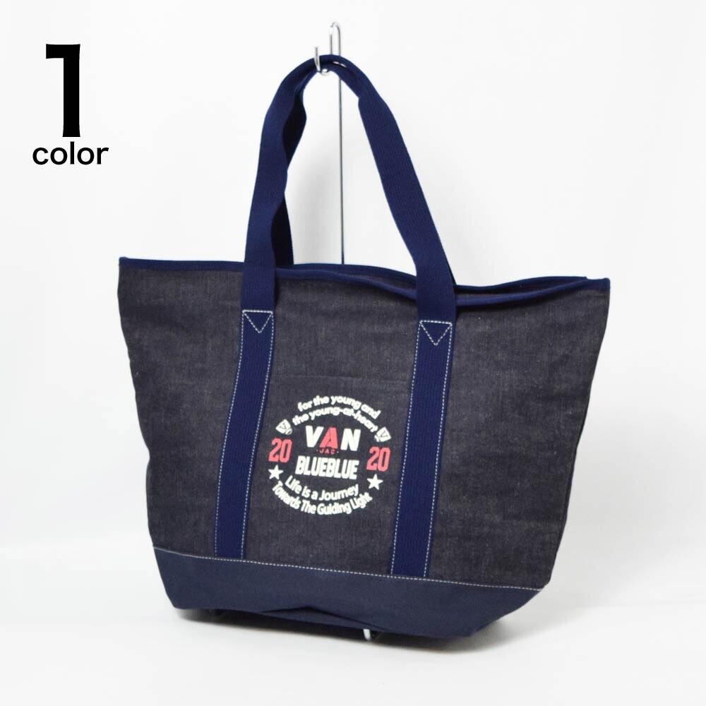 画像1: 【小物・雑貨】ヴァンジャケット・ブルーブルー(VAN JACKET・BLUE BLUE)VAN JACKET・BLUE BLUE インディゴキャンバス トートバッグ (1)