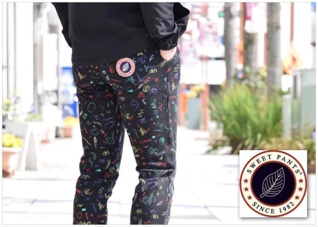 画像2: 【メンズ・レディーズ】スイートパンツ(SWEET PANTS )TERRY PRINT SLIM PANTS MOLLETON TERRY (2)
