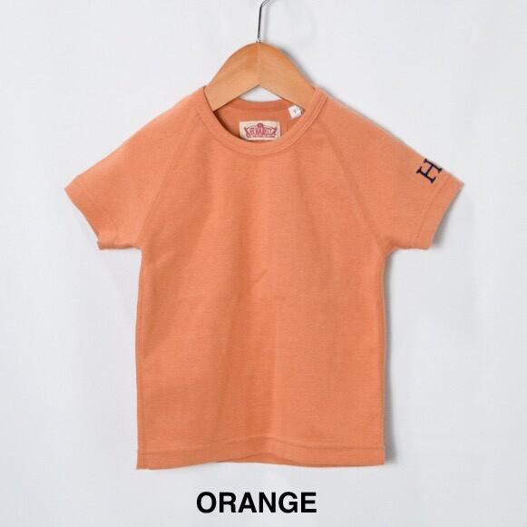 画像1: 【キッズ】ハリウッドランチマーケット 『ストレッチフライス キッズショートスリーヴTシャツ カラー:ORANGE』SFYO (1)