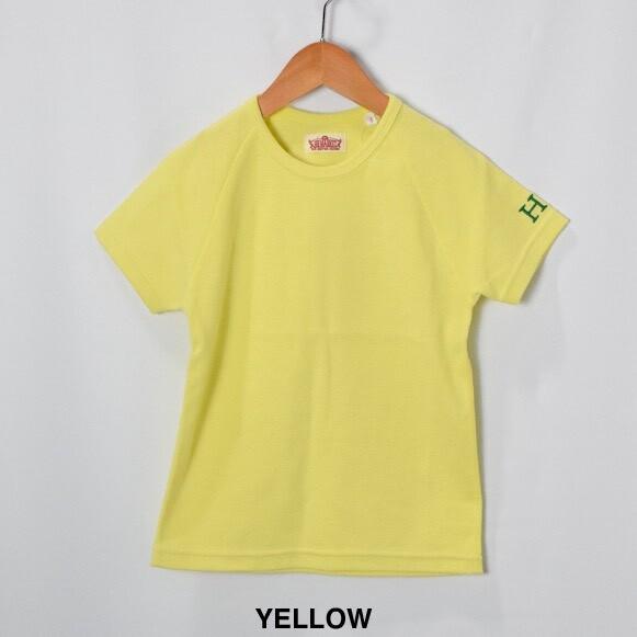 画像1: 【キッズ】ハリウッドランチマーケット 『ストレッチフライス キッズショートスリーヴTシャツ カラー:YELLOW』SFYO (1)