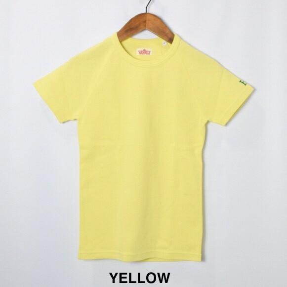 画像1: HOLLYWOOD RANCH MARKET 『ストレッチフライス ショートスリーヴTシャツ カラー:YELLOW』 (1)