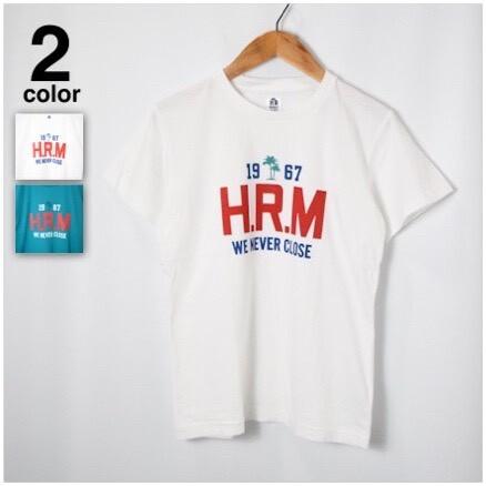 画像1: 【メンズ】ハリウッドランチマーケット(HOLLYWOOD RANCH MARKET)WE NEVER CLOSE 1967 PALMTREE ショートスリーブTシャツ (1)
