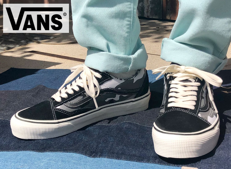 画像2: VANS  OLD SKOOL GORE TEX BLK/CAMO (2)